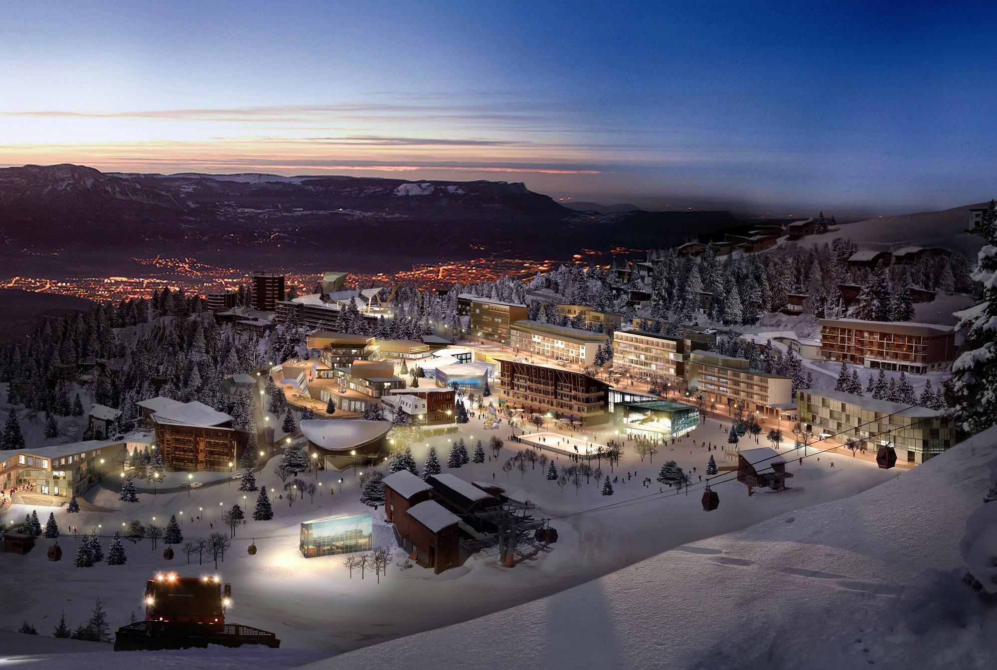 A quoi ressemblera la première station de ski intelligente française ?