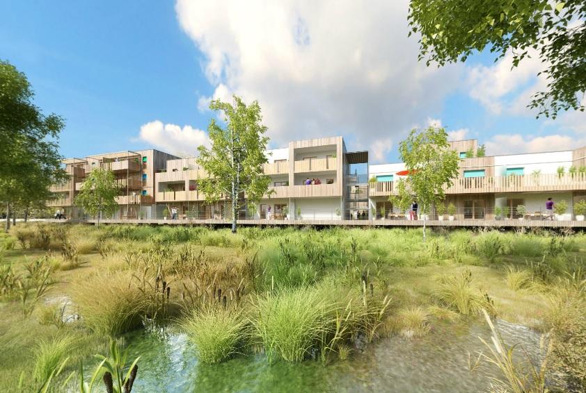 Une île de logements construite en zone inondable
